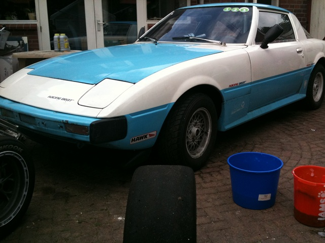 SA rx7 rx 7 12a bridgeport circuit track racecar project side front